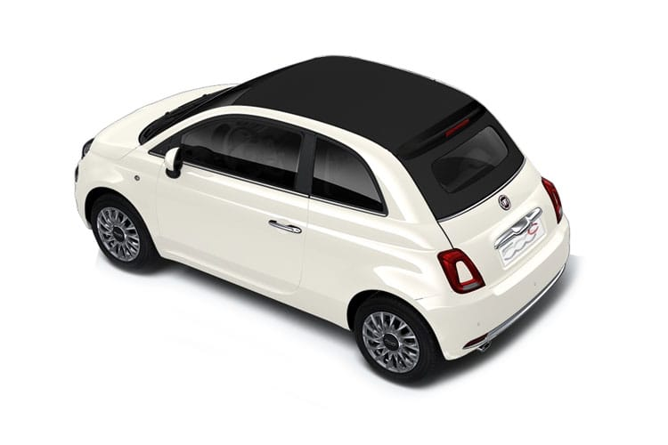Back view of Fiat 500 2 Door Convertible mHEV 1.0 70hp Dolcevita