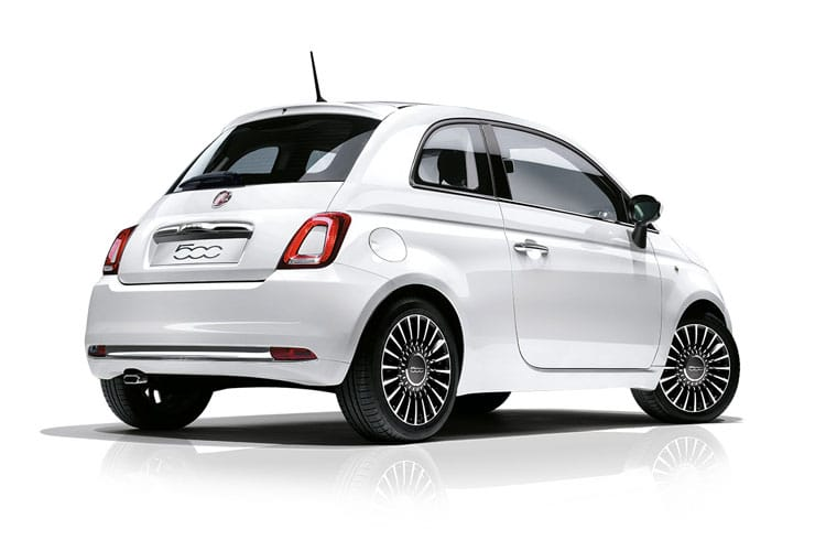 Back view of Fiat 500 3 Door Hatch mHEV 1.0 70hp Star