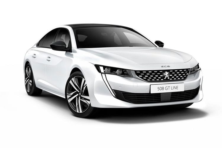 Front view of Peugeot 508 Fastback 1.2 Puretech 130 Allure EAT8 (MY2021)