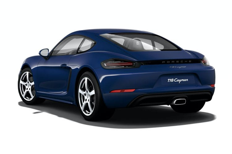 Back view of Porsche 718 Cayman 2 Door Coupe 2.5 350ps S