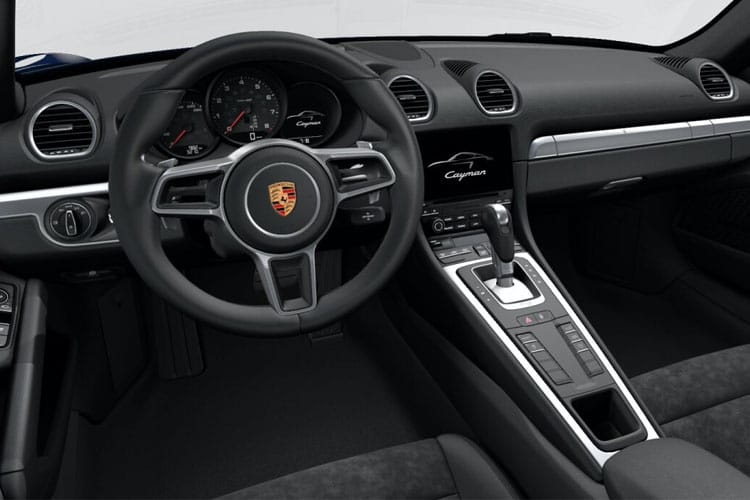Inside view of Porsche 718 Cayman 2 Door Coupe 2.5 350ps S