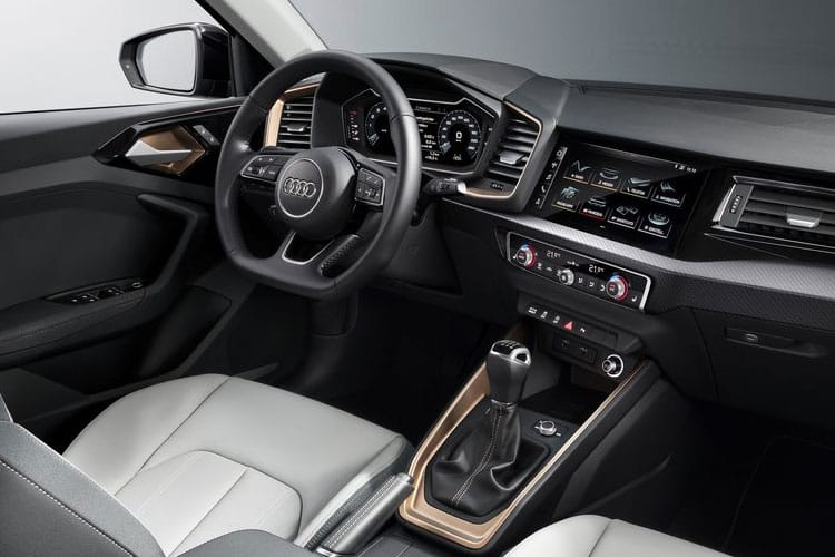 Inside view of Audi A1 5 Door Sportback 25 TFSI 95 S Line S tronic (MY2021.01)