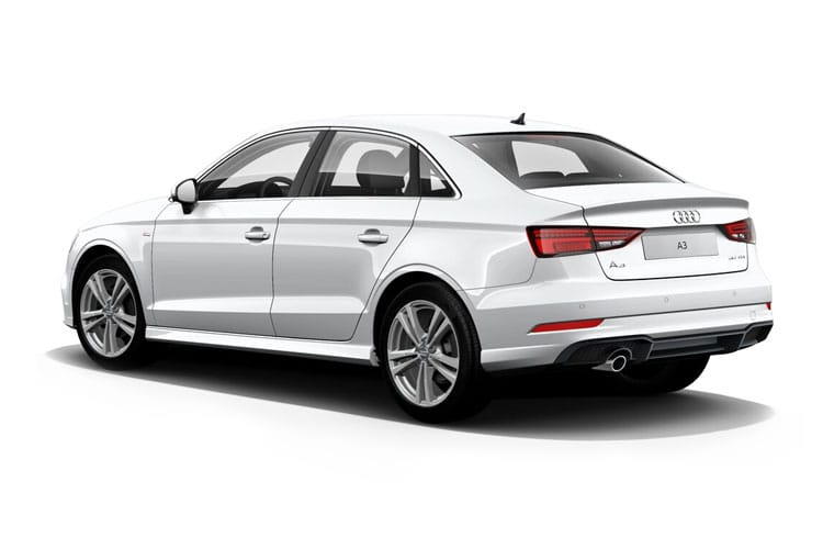 Back view of Audi A3 4 Door Saloon 30 TDI 116ps Sport (MY2021)