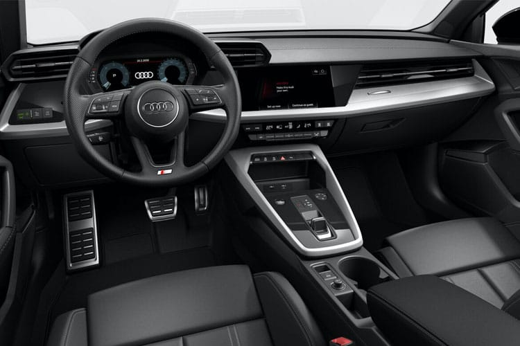 Inside view of Audi A3 5 Door Sportback 35 TDI 150 S Line S tronic (MY2021)