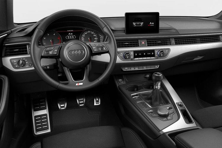 Inside view of Audi A5 Coupe 35 TDI 163ps Sport Comfort+Sound Pack S tronic (MY2021)