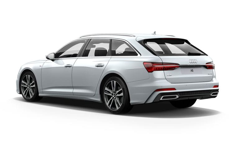 Back view of Audi A6 Avant 40 TDI 204 12V Black Edition Tech Pack S Tronic (MY2021)