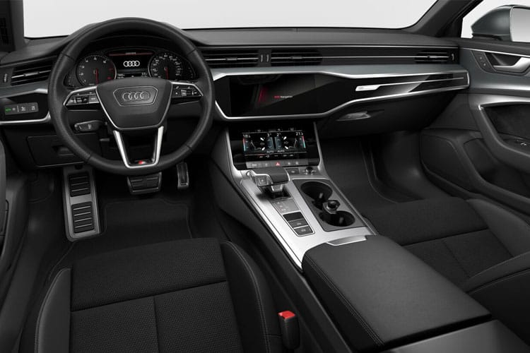 Inside view of Audi A6 Avant 40 TDI 204 12V Black Edition Tech Pack S Tronic (MY2021)
