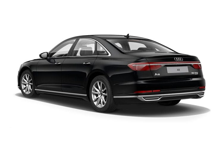 Back view of Audi A8 4 Door 55 TFSI 340ps Quattro Black Edition Tiptronic