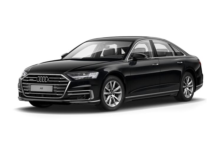 Front view of Audi A8 4 Door 55 TFSI 340ps Quattro Black Edition Tiptronic