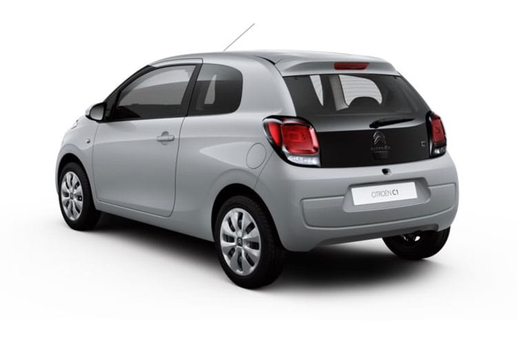 Back view of Citroen C1 3 Door 1.0 VTi 72 Feel (MY2020.02)