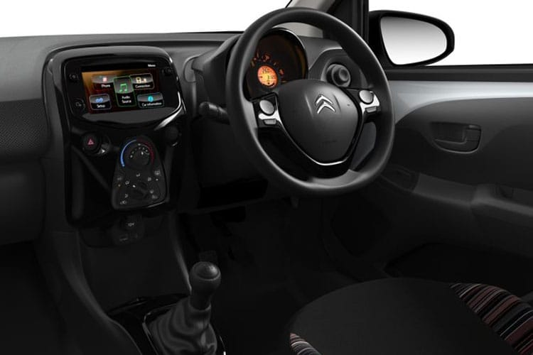 Inside view of Citroen C1 3 Door 1.0 VTi 72 Feel (MY2020.02)