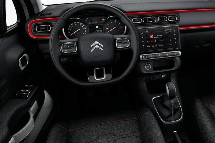Inside view of Citroen C3 5 Door Hatch 1.2 Puretech 83 Flair Plus Start+Stop (MY2021.01)