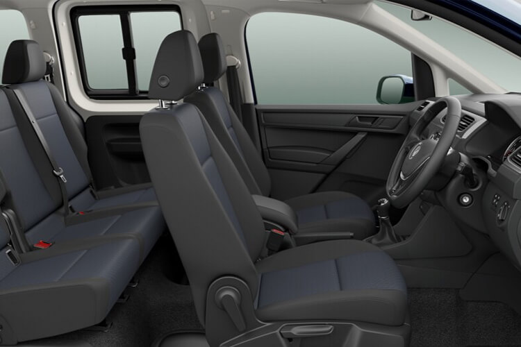 Inside view of Volkswagen Caddy Maxi Life C20 2.0 TDI 102