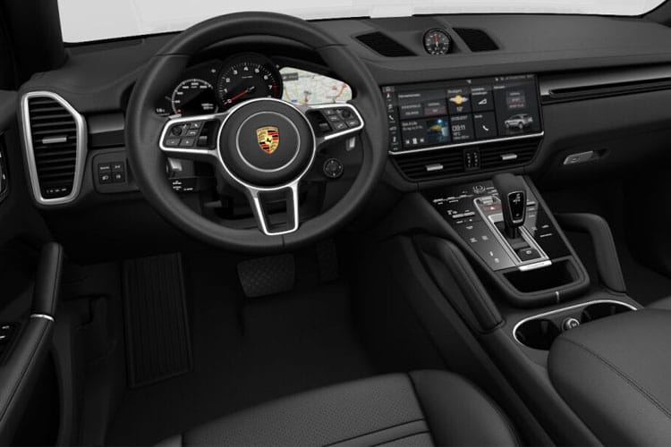Inside view of Porsche Cayenne Coupe Turbo S 4.0 V8 E-Hyd Tiptronic S