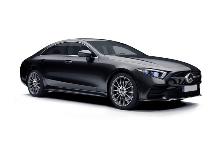 Front view of Mercedes CLS400d Coupe 2.9 AMG Line Ned Premium Plus 4MATIC
