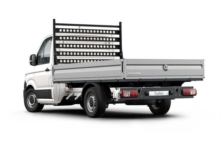 Back view of Volkswagen CR35 LWB Chassis Cab Dropside 2.0 TDI 140 Startline Business Etg
