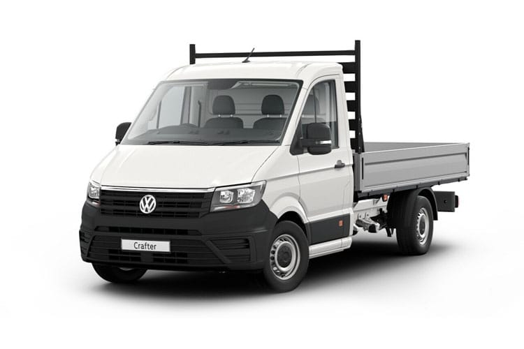 Front view of Volkswagen CR35 LWB Chassis Cab Dropside 2.0 TDI 140 Startline Business Etg