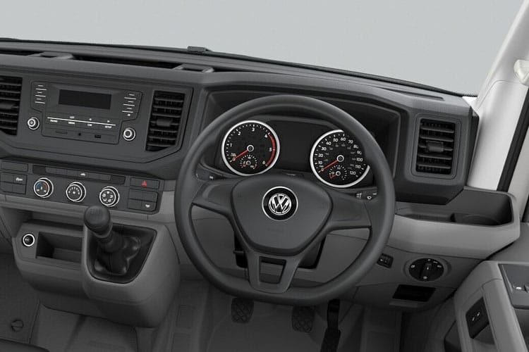 Inside view of Volkswagen CR35 LWB Chassis Cab Dropside 2.0 TDI 140 Startline Business Etg