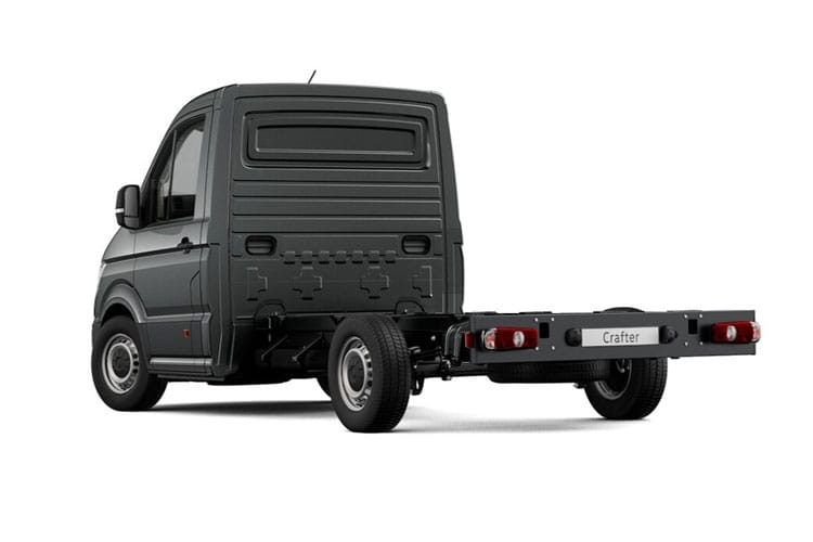 Back view of Volkswagen CR35 LWB Chassis Single Cab 2.0 TDI 177 Startline Business