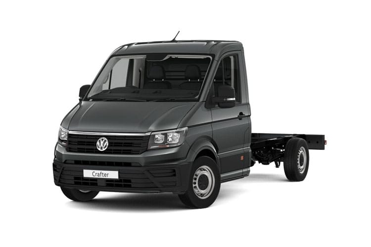 Front view of Volkswagen CR35 LWB Chassis Single Cab 2.0 TDI 177 Startline Business