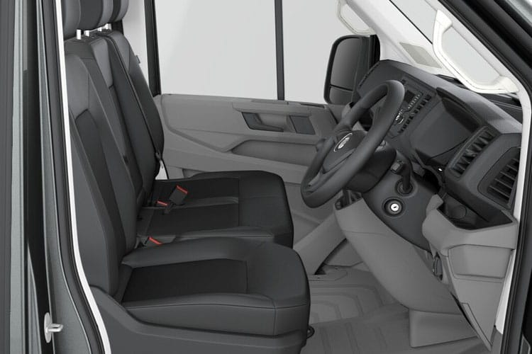 Inside view of Volkswagen CR35 LWB Chassis Single Cab 2.0 TDI 177 Startline Business