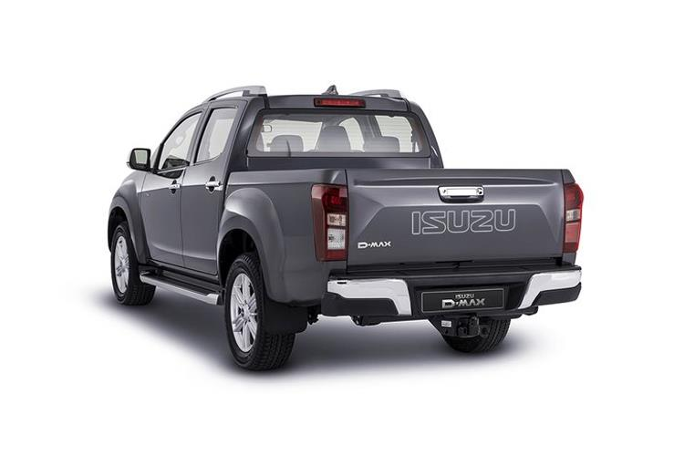 Back view of Isuzu D-Max 1.9 Double Cab AT35 Safir Auto 4x4