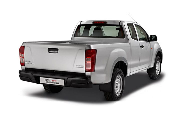 Back view of Isuzu D-Max 1.9 Extended Cab 4x4