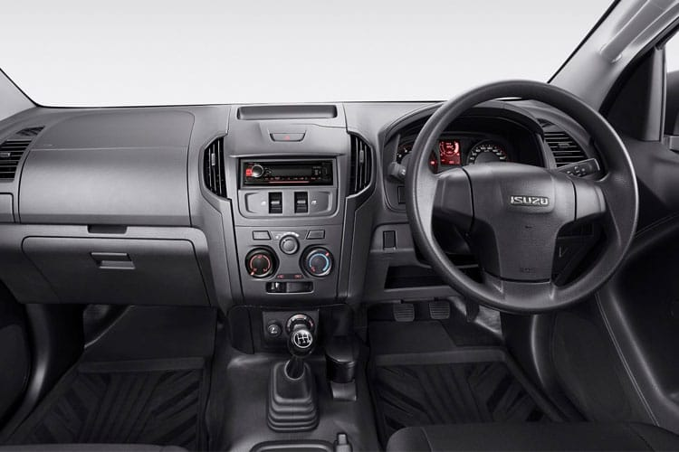 Inside view of Isuzu D-Max 1.9 Extended Cab 4x4