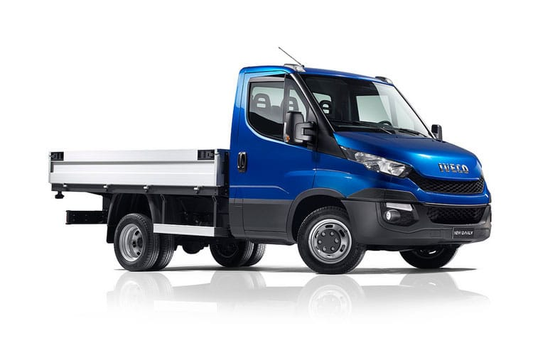 Front view of Iveco Daily 35C18 Heavy Duty Dropside Crew Cab 3.0TD 4100