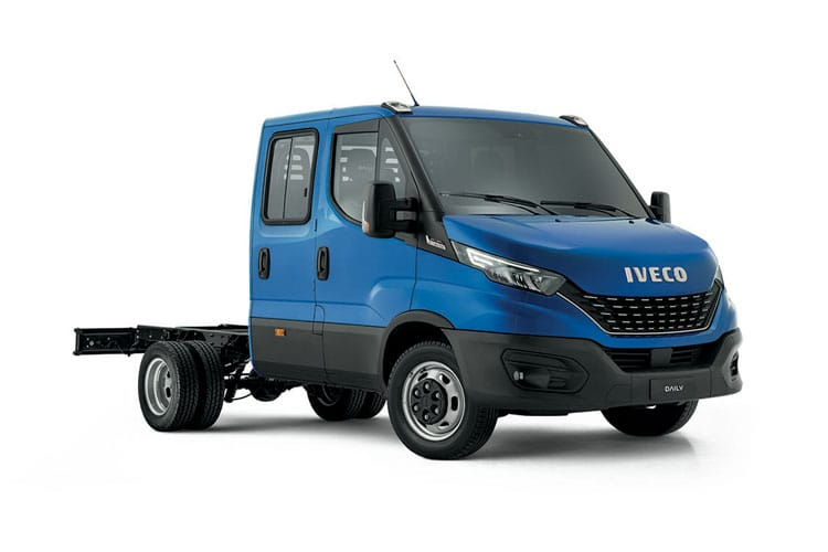 Front view of Iveco Daily 35C16 Heavy Duty Crew Cab 3.0TD 3450