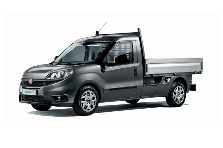 Front view of Fiat Doblo Dropside 1.6 105 Work Up Tecnico Multijet II