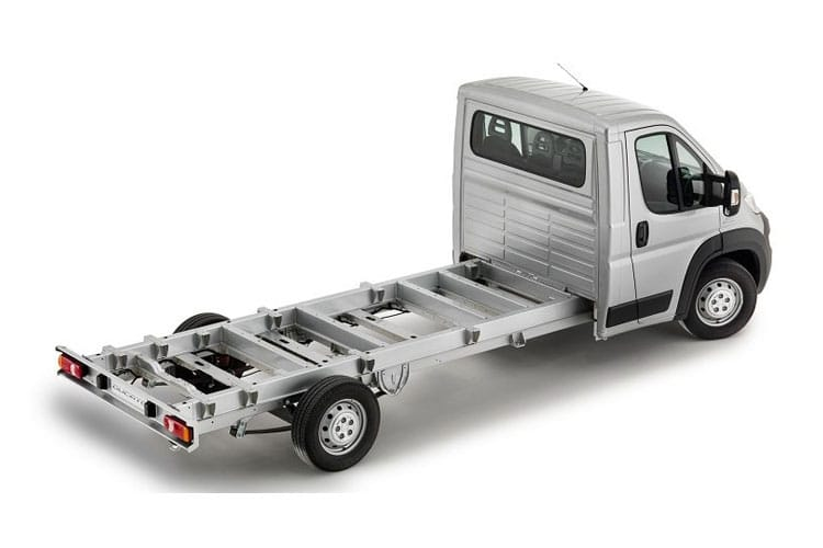 Back view of Fiat Ducato Cab LH1 35 LWB 2.3 Multijet Power