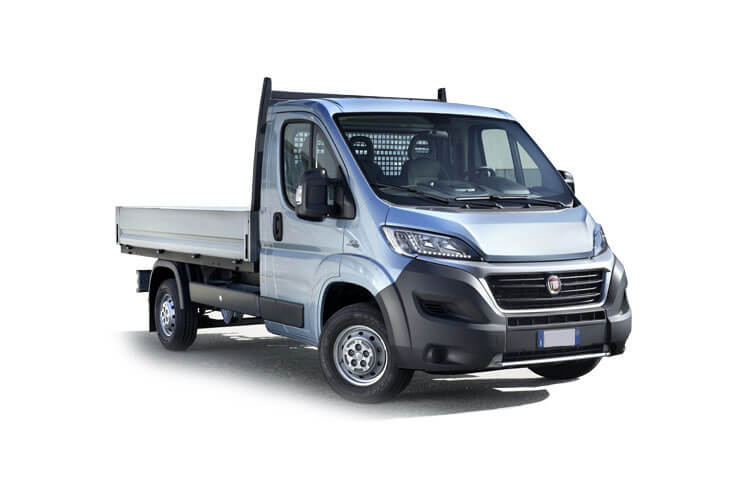 Front view of Fiat Ducato Steel Dropside MLH1 35 2.3 Multijet