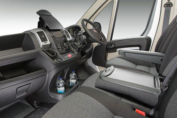 Inside view of Fiat Ducato Maxi Cab LH1 35 LWB 2.3 Multijet 160 Auto