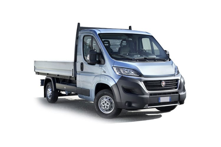 Front view of Fiat Ducato Steel Maxi Dropside LH1 35 2.3 Multijet 140