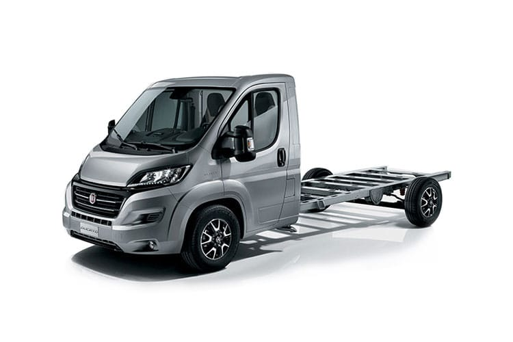 Front view of Fiat Ducato Maxi Platform Cab MH1 35 MWB 2.3 Multijet 140 Auto