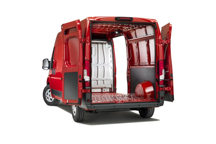 Back view of Fiat Ducato Van SH1 30 SWB 2.3 Multijet 120