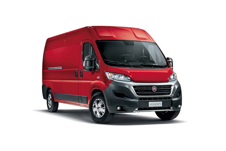 Front view of Fiat Ducato Van LH3 35 LWB 2.3 Multijet 180 Power