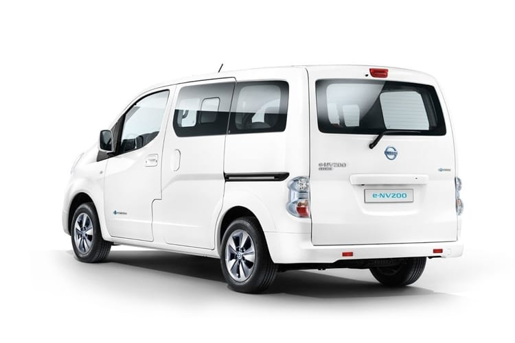 Back view of Nissan e-NV200 Combi 109ps Visia 7Seat 50KWCH