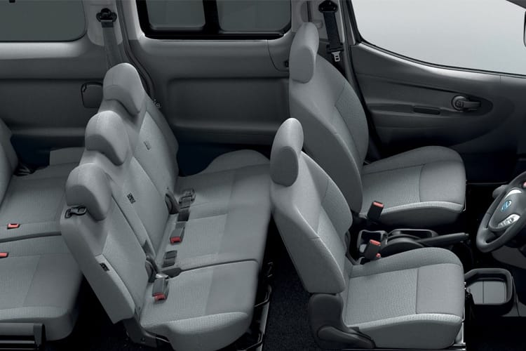 Inside view of Nissan e-NV200 Combi 109ps Visia 7Seat 50KWCH