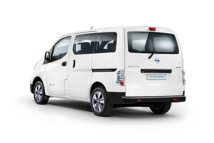 Back view of Nissan e-NV200 Evalia 109ps 7Seat