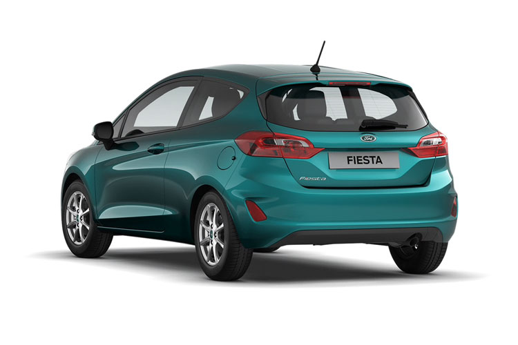 Back view of Ford Fiesta 3 Door 1.1L Ti-VCT 75ps Trend Nav (MY2021)