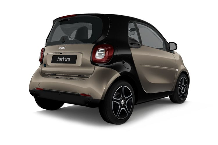 Back view of Smart Fortwo 2 Door Coupe EQ 22KW Prime Exclusive Auto (MY2020)