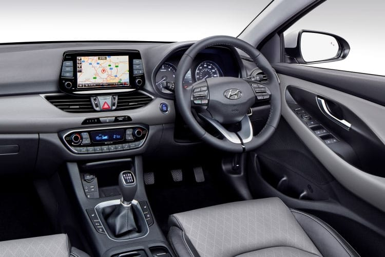 Inside view of Hyundai i30 5 Door Hatch 1.4 T-GDi 140ps Premium DCT