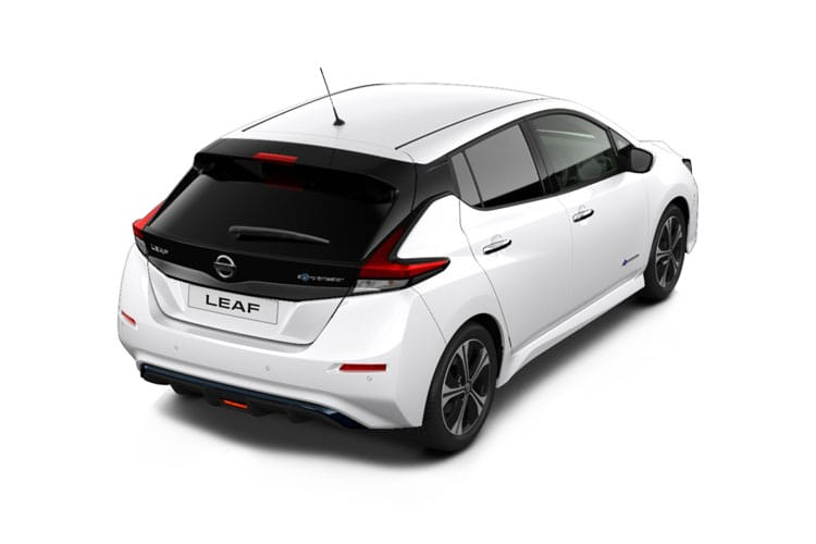 Back view of Nissan Leaf 5 Door Hatch Acenta 40KW 6.6KW Charger