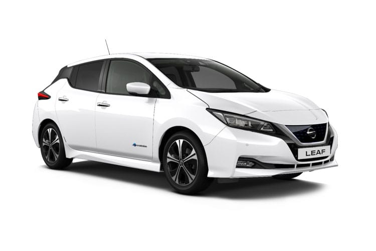 Front view of Nissan Leaf 5 Door Hatch e+ Tekna 62KW