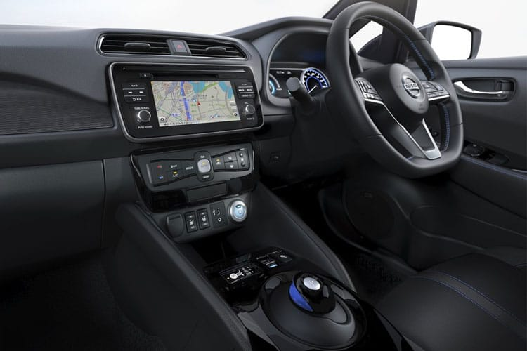 Inside view of Nissan Leaf 5 Door Hatch Acenta 40KW 6.6KW Charger