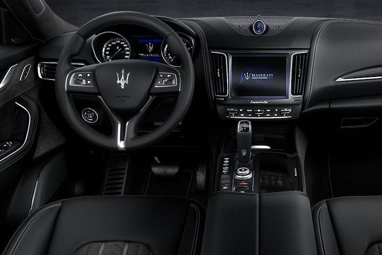 Inside view of Maserati Levante 3.0 V6 350hp Granlusso Auto