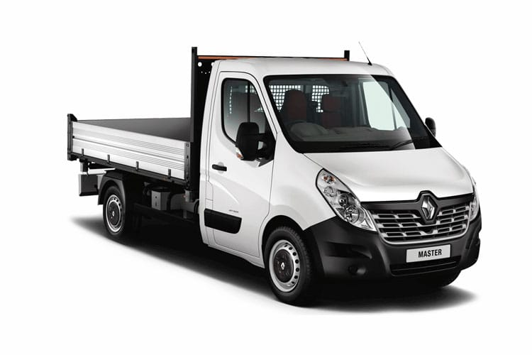 Front view of Renault Master Aluminium Tipper LL35 dCi 130 Business RWD