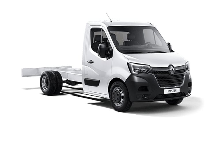 Front view of Renault Master Chassis Cab ML35 dCi 135 Business FWD